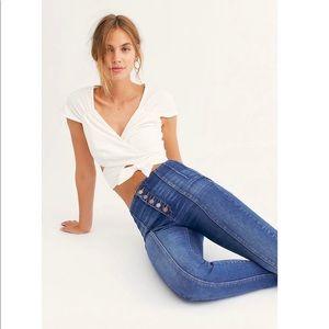 Free People Blank NYC Retro High Rise Skinny Jean